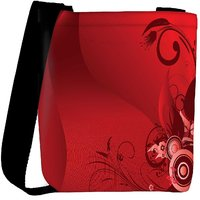 Snoogg Floral Background Designer Womens Carry Around Cross Body Tote Handbag Sling Bags RPC-4428-SLTOBAG
