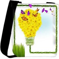 Snoogg Floral Background Designer Womens Carry Around Cross Body Tote Handbag Sling Bags RPC-4434-SLTOBAG