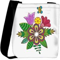 Snoogg Floral Background Designer Womens Carry Around Cross Body Tote Handbag Sling Bags RPC-4436-SLTOBAG