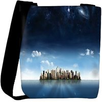 Snoogg City In An Island Designer Womens Carry Around Cross Body Tote Handbag Sling Bags RPC-9493-SLTOBAG