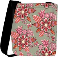 Snoogg Abstract Floral Background Designer Protective Back Case Cover For Oneplus 3 Designer Womens Carry Around Cross Body Tote Handbag Sling Bags RPC-3730-SLTOBAG