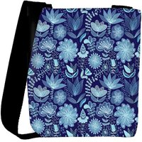Snoogg Abstract Floral Background Designer Womens Carry Around Cross Body Tote Handbag Sling Bags RPC-3733-SLTOBAG