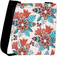Snoogg Abstract Floral Background Designer Protective Back Case Cover For Oneplus 3 Designer Womens Carry Around Cross Body Tote Handbag Sling Bags RPC-3736-SLTOBAG
