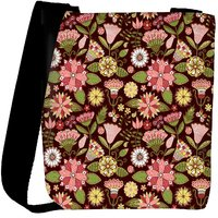 Snoogg Abstract Floral Background Designer Womens Carry Around Cross Body Tote Handbag Sling Bags RPC-3737-SLTOBAG