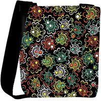 Snoogg Abstract Floral Background Designer Protective Back Case Cover For Oneplus 3 Designer Womens Carry Around Cross Body Tote Handbag Sling Bags RPC-3745-SLTOBAG