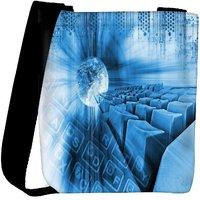 Snoogg Abstract Internet Background Designer Womens Carry Around Cross Body Tote Handbag Sling Bags RPC-3780-SLTOBAG