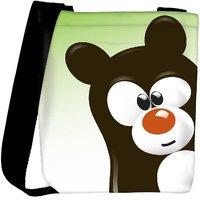 Snoogg Funny Cartoon Bear Designer Protective Back Case Cover For Oneplus 3 Designer Womens Carry Around Cross Body Tote Handbag Sling Bags RPC-4509-SLTOBAG