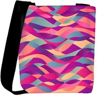 Snoogg Mosaic Abstract Wave Background Colorful Abstract Hand Drawn Pattern Designer Protective Back Case Cover For Oneplus 3 Designer Womens Carry Around Cross Body Tote Handbag Sling Bags RPC-4809-SLTOBAG