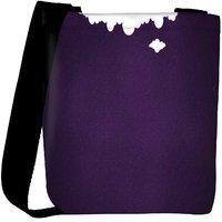 Snoogg Purple Background Designer Womens Carry Around Cross Body Tote Handbag Sling Bags RPC-8834-SLTOBAG