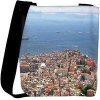 Snoogg City And The Sea Designer Womens Carry Around Cross Body Tote Handbag Sling Bags RPC-9108-SLTOBAG