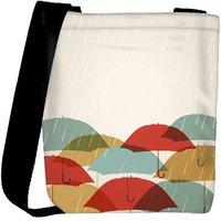 Snoogg Abstract Rainy Season Background Designer Protective Back Case Cover For Oneplus 3 Designer Womens Carry Around Cross Body Tote Handbag Sling Bags RPC-3787-SLTOBAG