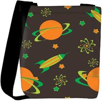 Snoogg Abstract Science Background Designer Womens Carry Around Cross Body Tote Handbag Sling Bags RPC-3799-SLTOBAG