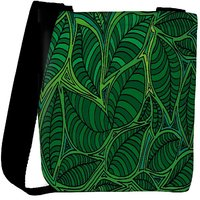 Snoogg Abstract Sketch Of Leaf Background Vector Illustration Designer Protective Back Case Cover For Oneplus 3 Designer Womens Carry Around Cross Body Tote Handbag Sling Bags RPC-3806-SLTOBAG