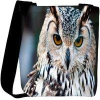 Snoogg Owl Close Up Portrait Designer Protective Back Case Cover For Oneplus 3 Designer Womens Carry Around Cross Body Tote Handbag Sling Bags RPC-4882-SLTOBAG