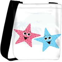Snoogg Pair Of Little Starfish Designer Protective Back Case Cover For Oneplus 3 Designer Womens Carry Around Cross Body Tote Handbag Sling Bags RPC-4886-SLTOBAG