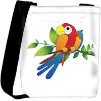 Snoogg Parrot On Branch Illustration Designer Protective Back Case Cover For Oneplus 3 Designer Womens Carry Around Cross Body Tote Handbag Sling Bags RPC-4899-SLTOBAG