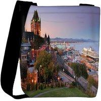 Snoogg Colorful Buildings Designer Womens Carry Around Cross Body Tote Handbag Sling Bags RPC-9162-SLTOBAG