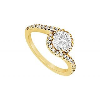 LoveBrightJewelry Very Pretty 14K Yellow Gold Diamond Engagement Ring-0.75 CT