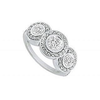 LoveBrightJewelry In Vogue Platinum & Diamond Engagement Ring-0.66 CT