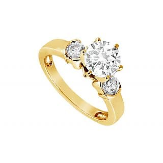 LoveBrightJewelry 14K Yellow Gold Diamond Engagement Ring-0.50 CT