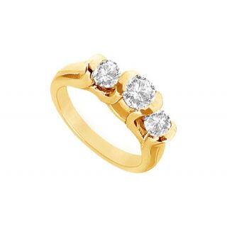 LoveBrightJewelry Resplendent 14K Yellow Gold Diamond Engagement Ring-1.00 CT