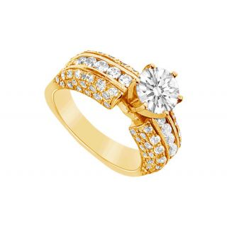 LoveBrightJewelry 14K Yellow Gold Diamond Engagement Ring-2.75 CT