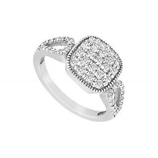 LoveBrightJewelry In Vogue Diamond Ring 14K White Gold-0.75 CT