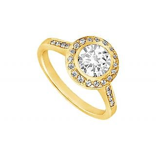 LoveBrightJewelry Classic 14K Yellow Gold Diamond Engagement Ring-1.00 CT