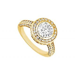 LoveBrightJewelry In Vogue 14K Yellow Gold Diamond Engagement Ring-1.50 CT
