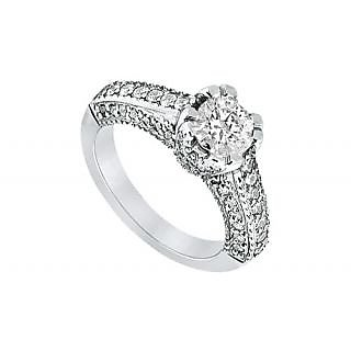 LoveBrightJewelry In Style Platinum & Diamond Engagement Ring-1.00 CT