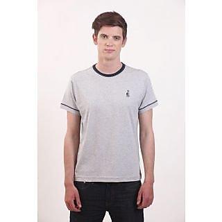 Smokestack Cotton Round Neck Half Sleeves Men's T-Shirt (Grey)