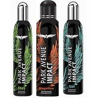 Park Avenue Impact Magnifico,Sharp,Icon Prefumed Deodorants Pack Of 3 For Men Combo Set (Set Of 3)