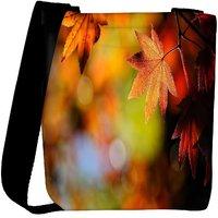 Snoogg Autumn Leaves In Trees Designer Womens Carry Around Cross Body Tote Handbag Sling Bags RPC-7671-SLTOBAG