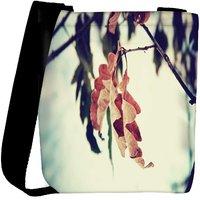 Snoogg Dry Leaves On Tree Designer Womens Carry Around Cross Body Tote Handbag Sling Bags RPC-7679-SLTOBAG