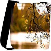 Snoogg Yellow Leaves On Trees Designer Womens Carry Around Cross Body Tote Handbag Sling Bags RPC-7685-SLTOBAG