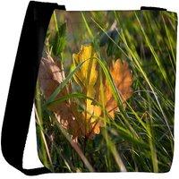 Snoogg Frozen Leaf Unique Designer Womens Carry Around Cross Body Tote Handbag Sling Bags RPC-7692-SLTOBAG