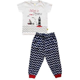 Boys White Pyjama Set
