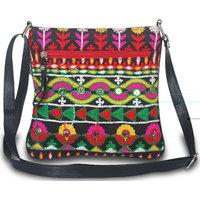Sling Bag With Abla Work For Ladies