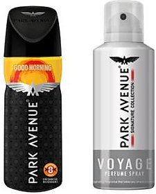 Park Avenue Voyage And Good Morning Deodorant Spray - For Men (150ml) SET OF 1