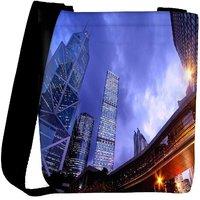 Snoogg Crystal Building Designer Womens Carry Around Cross Body Tote Handbag Sling Bags RPC-8588-SLTOBAG