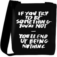 Snoogg Something You Must Be Designer Protective Back Case Cover For Oneplus 3 Designer Womens Carry Around Cross Body Tote Handbag Sling Bags RPC-327-SLTOBAG