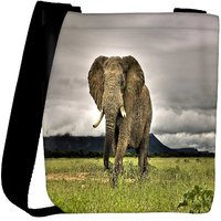 Snoogg Baby Elephant Following Designer Womens Carry Around Cross Body Tote Handbag Sling Bags RPC-8222-SLTOBAG
