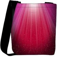 Snoogg Red Background Designer Womens Carry Around Cross Body Tote Handbag Sling Bags RPC-8661-SLTOBAG