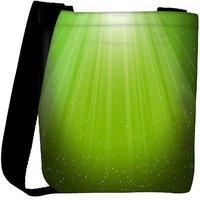 Snoogg Green Background Designer Womens Carry Around Cross Body Tote Handbag Sling Bags RPC-8662-SLTOBAG