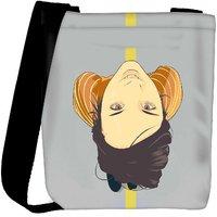 Snoogg Girl Walking On The Road 2781 Designer Womens Carry Around Cross Body Tote Handbag Sling Bags RPC-2781-SLTOBAG