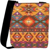Snoogg Aztec Pattern Cream Stuff Designer Protective Back Case Cover For Oneplus 3 Designer Womens Carry Around Cross Body Tote Handbag Sling Bags RPC-353-SLTOBAG