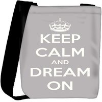 Snoogg Keep Calm And Dream On Designer Protective Back Case Cover For Oneplus 3 Designer Womens Carry Around Cross Body Tote Handbag Sling Bags RPC-367-SLTOBAG
