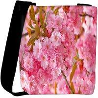 Snoogg Unique Flowers Designer Womens Carry Around Cross Body Tote Handbag Sling Bags RPC-8258-SLTOBAG