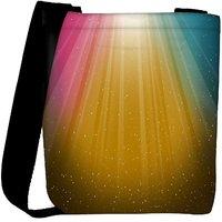 Snoogg Multicolor Background Designer Womens Carry Around Cross Body Tote Handbag Sling Bags RPC-8663-SLTOBAG