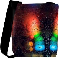Snoogg Abstract Traffic Light Designer Protective Back Case Cover For Oneplus 3 Designer Womens Carry Around Cross Body Tote Handbag Sling Bags RPC-3196-SLTOBAG